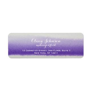 Lavendel för vattenfärg för Makeupkonstnär Returadress Etikett
