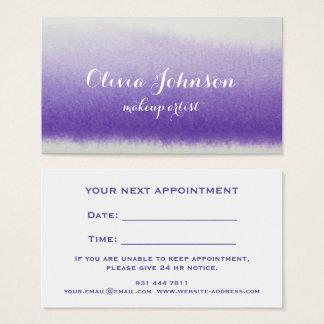 Lavendel för vattenfärg för Makeupkonstnär Visitkort