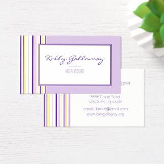 Lavendel görar randig visitkortar visitkort