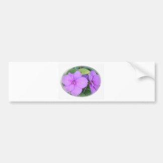 Lavendel Impatients virvlar runt in Bildekal