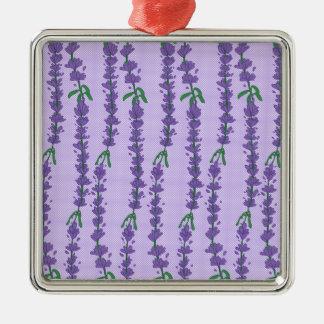 Lavendel och pricker julgransprydnad metall