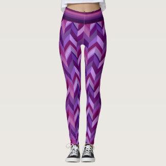 Lavendel och rödbruna sparrar leggings