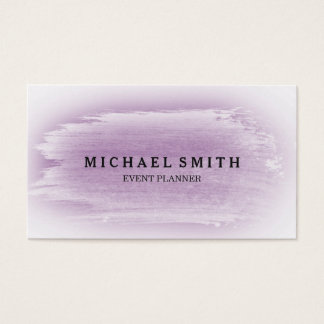 Lavendel- & silvervattenfärgstruktur visitkort
