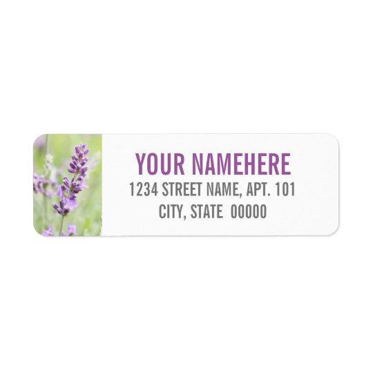 Lavendelanpassningsbar Returadress Etikett
