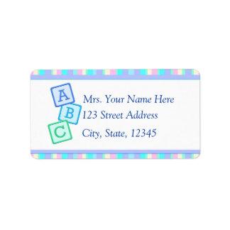 Lavendelbabyadress Lables Adressetikett