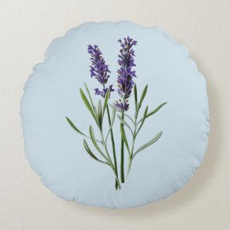 Lavendelblommor Rund Kudde