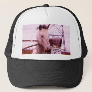 Lavendelhäst för privat egendom truckerkeps
