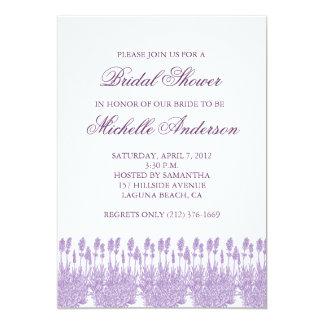Lavendelinbjudningskort för möhippan 12,7 x 17,8 cm inbjudningskort