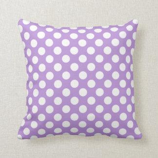 Lavendellilapolka dots kudde