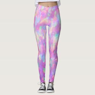 LavendelOpal Bokeh, rosa, blått Leggings