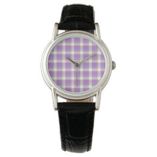 LavendelTartan Armbandsur