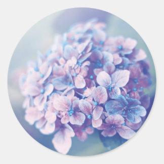 Lavendelvanlig hortensia runt klistermärke