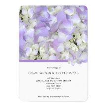Lavender Hydrangea Wedding 5x7 Invitation