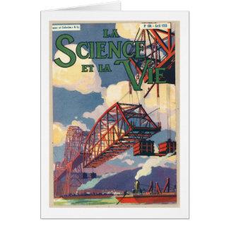 Lavetenskap et la tävlar affischen hälsningskort