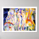Laville de Paris vid Delaunay - abstrakt konst Posters