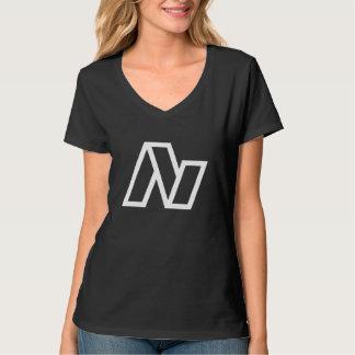 Lavinlogotypkvinna V-nacke T Shirts