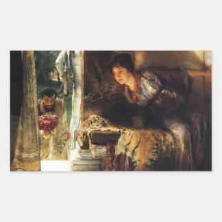 Lawrence Alma-Tadema 1883 välkommna fotsteg Rektangulärt Klistermärke
