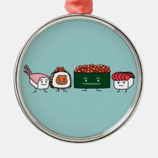 Lax för räka för lyckliga Sushibroderris japansk Julgransprydnad Metall