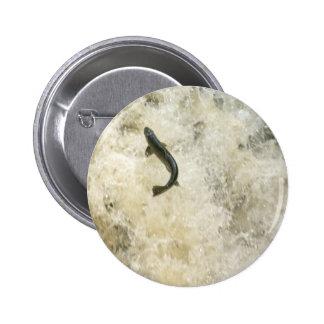 Laxen knäppas emblem standard knapp rund 5.7 cm