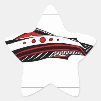 Laxinfödingkonst Stjärnformat Klistermärke