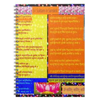 Laxmi Pooja Sanskrit Mantra läst affischvykort Anteckningsbok