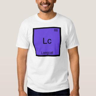 Lc - Meme för Longcat rolig kemisymbol T-tröja T-shirt