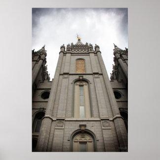 LDS Salt Lake City, stor UT-tempelaffisch - Poster