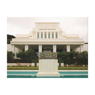 LDS-tempel, Laie, Hawai'i. Canvastryck