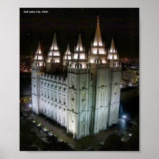 LDS-tempel, Salt Lake City, Utah Poster