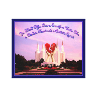 LDS Washington, D.C. Tempel Canvastryck