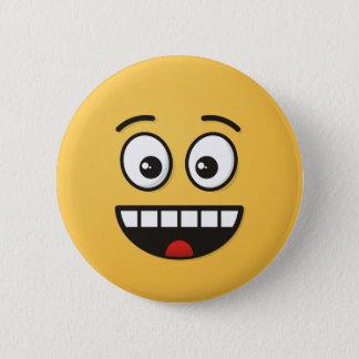 Le ansikte med den öppna munnen standard knapp rund 5.7 cm