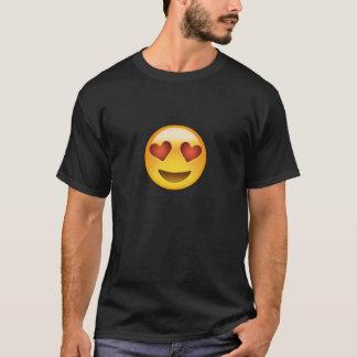 Le ansikte med hjärtformade ögon Emoji T-shirt