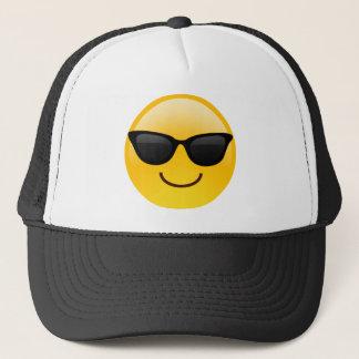 Le ansikte med solglasögon coolt Emoji Truckerkeps