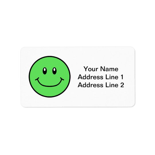 Le ansikteetikettgrönt 0001 adressetikett