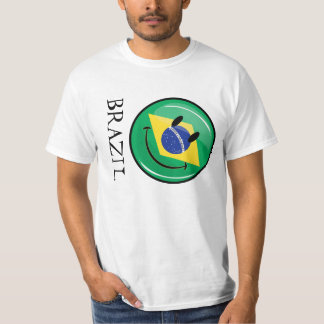 Le brasiliansk flagga tee
