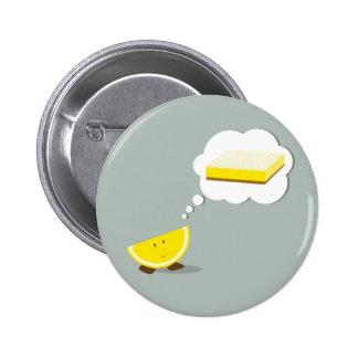 Le citronen som är tänkande av en citronpub standard knapp rund 5.7 cm