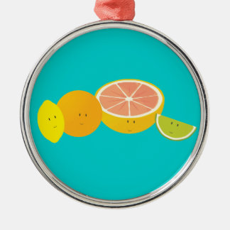 Le citrusfrukt julgransprydnad metall