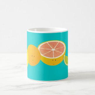 Le citrusfrukt vit mugg