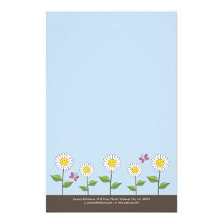 Le daisy & fjärilar notera papper