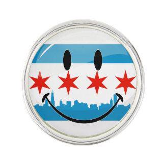 Le den Chicago flagga Rockslagsnål