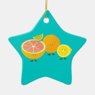 Le den citrusa gruppen julgransprydnad keramik