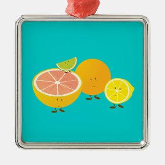 Le den citrusa gruppen julgransprydnad metall