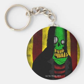 Le den gröna zombien Keychain Rund Nyckelring