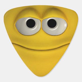 Le den gula emoticonen plektrum
