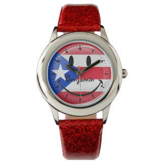 Le den Puerto Rican flagga Armbandsur