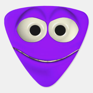 Le den purpurfärgade emoticonen plektrum