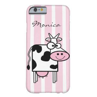 Le det Monogrammed djura trycket för ko Barely There iPhone 6 Skal