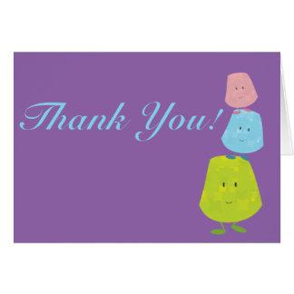 Le gelékarameller tacka dig hälsningskort