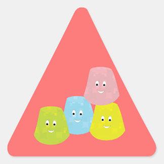 Le gelékarameller triangelformat klistermärke