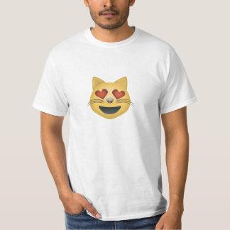 Le kattansikte med hjärtformade ögon Emoji T-shirts